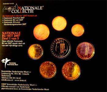 Oběhové mince Nizozemí Unc. 2007 - 3