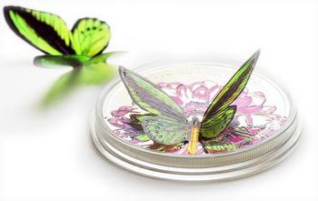 2012 Exotic Butterflies - Ornithoptera Priamus - Tokelau Ag 3D - 3