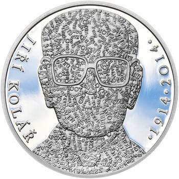 JIŘÍ KOLÁŘ – návrhy mince 500 Kč - sada tří Ag medailí 34 mm Proof v etui - 4