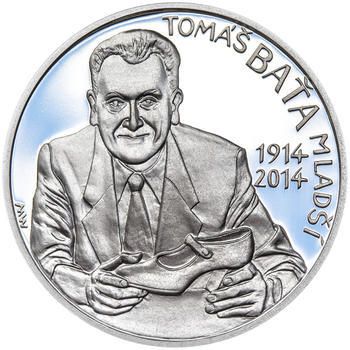 TOMÁŠ BAŤA ml. – návrhy mince 200,-Kč - sada tří Ag medailí 34mm Proof v etui - 4