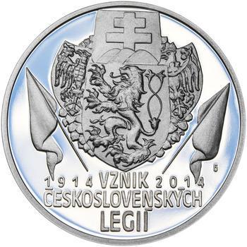ZAL. ČESKOSLOVENSKÝCH LEGIÍ – návrhy mince 200 Kč - sada tří Ag medailí 34 mm Proof v etui - 4