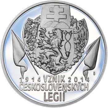 ZAL. ČESKOSLOVENSKÝCH LEGIÍ – návrhy mince 200,-Kč - sada tří Ag medailí 34mm Proof v etui - 4