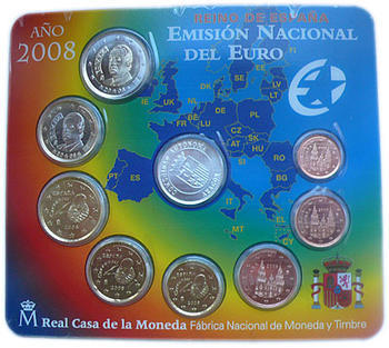 Sada mincí Španělsko 2008 Unc - Aragon - 4