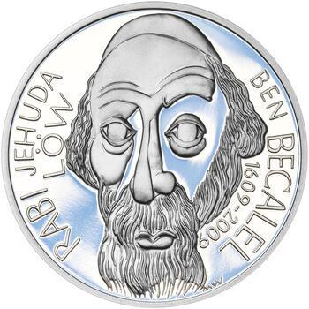 RABÍ JEHUDA LÖW – návrhy mince 200 Kč - sada I. tří Ag medailí 34 mm Proof v etui - 4