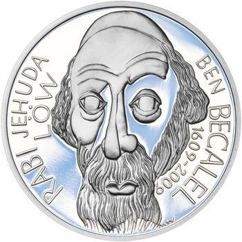 RABÍ JEHUDA LÖW – návrhy mince 200,-Kč - sada I. tří Ag medailí 34mm Proof v etui - 4