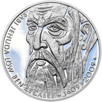 RABÍ JEHUDA LÖW – návrhy mince 200 Kč - sada II. tří Ag medailí 34 mm Proof v etui - 4