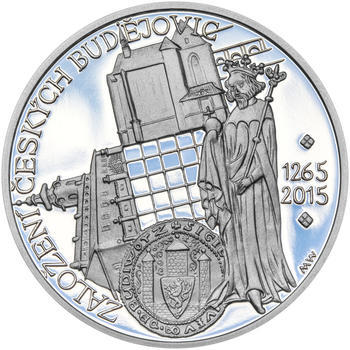 ČESKÉ BUDĚJOVICE – návrhy mince 200 Kč - sada tří Ag medailí 34 mm Proof v etui - 4