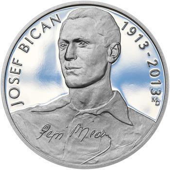 JOSEF BICAN – návrhy mince 200,-Kč - sada tří Ag medailí 34mm Proof v etui - 4