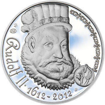 RUDOLF II. – návrhy mince 200 Kč - sada tří Ag medailí 34 mm Proof v etui - 4