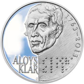 ALOYS KLAR – návrhy mince 200 Kč - sada tří Ag medailí 34 mm Proof v etui - 4