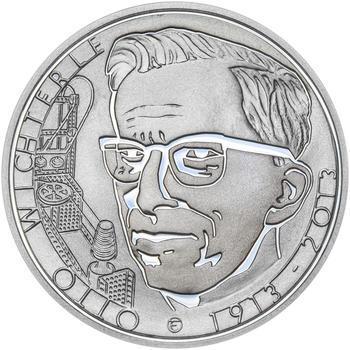 OTTO WICHTERLE – návrhy mince 200,-Kč - sada tří Ag medailí 34mm Proof v etui - 4