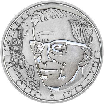 OTTO WICHTERLE – návrhy mince 200 Kč - sada tří Ag medailí 34 mm Proof v etui - 4
