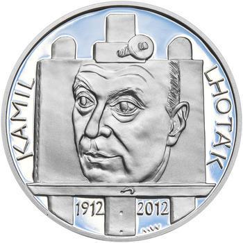 KAMIL LHOTÁK – návrhy mince 200,-Kč - sada tří Ag medailí 34mm Proof v etui - 4