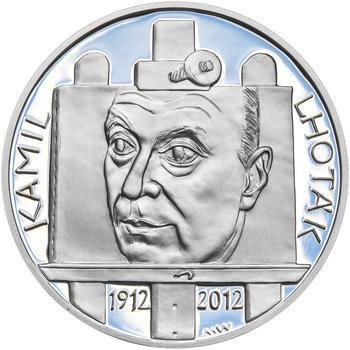 KAMIL LHOTÁK – návrhy mince 200 Kč - sada tří Ag medailí 34 mm Proof v etui - 4