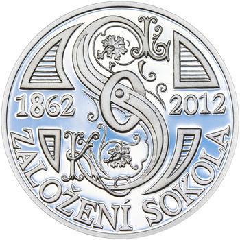 ZALOŽENÍ SOKOLA – návrhy mince 200,-Kč - sada tří Ag medailí 34mm Proof v etui - 4