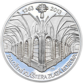 KLÁŠTER ZLATÁ KORUNA – návrhy mince 200,-Kč - sada tří Ag medailí 34mm Proof v etui - 4