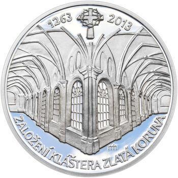KLÁŠTER ZLATÁ KORUNA – návrhy mince 200 Kč - sada tří Ag medailí 34 mm Proof v etui - 4