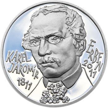 KAREL JAROMÍR ERBEN – návrhy mince 500 Kč - sada tří Ag medailí 34 mm Proof v etui - 4