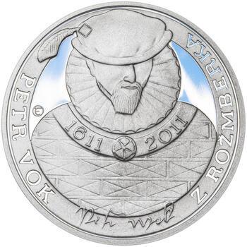 PETR VOK Z ROŽMBERKA – návrhy mince 200 Kč - sada tří Ag medailí 34 mm Proof v etui - 4