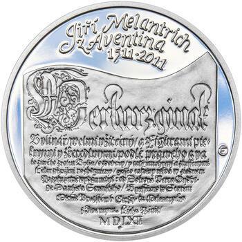 JIŘÍ MELANTRICH Z AVENTINA – návrhy mince 200 Kč - sada tří Ag medailí 34 mm Proof v etui - 4