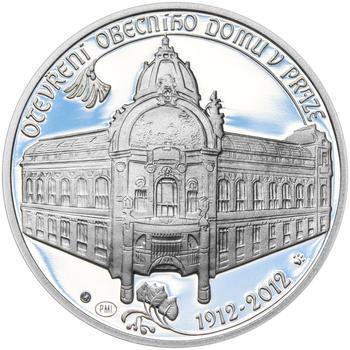 OBECNÍ DŮM V PRAZE – návrhy mince 200,-Kč - sada tří Ag medailí 34mm Proof v etui - 4