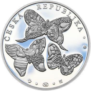 JIŘÍ KOLÁŘ – návrhy mince 500,-Kč - sada tří Ag medailí 34mm Proof v etui - 5