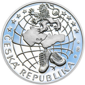 TOMÁŠ BAŤA ml. – návrhy mince 200 Kč - sada tří Ag medailí 34 mm Proof v etui - 5