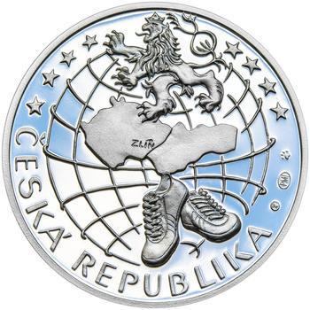 TOMÁŠ BAŤA ml. – návrhy mince 200,-Kč - sada tří Ag medailí 34mm Proof v etui - 5