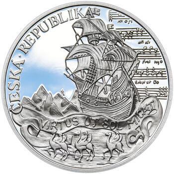KRYŠTOF HARANT – návrhy mince 200 Kč - sada tří Ag medailí 34 mm Proof v etui - 5