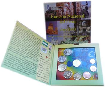 Sada mincí Španělsko 2008 Unc - Andalucia - 5