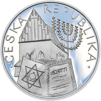 RABÍ JEHUDA LÖW – návrhy mince 200,-Kč - sada I. tří Ag medailí 34mm Proof v etui - 5