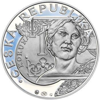 20 LET ČNB A ČESKÉ MĚNY – návrhy mince 200 Kč - sada tří Ag medailí 34 mm Proof v etui - 5