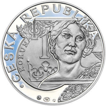 20 LET ČNB A ČESKÉ MĚNY – návrhy mince 200,-Kč - sada tří Ag medailí 34mm Proof v etui - 5
