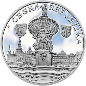 ČESKÉ BUDĚJOVICE – návrhy mince 200 Kč - sada tří Ag medailí 34 mm Proof v etui - 5