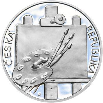 KAMIL LHOTÁK – návrhy mince 200 Kč - sada tří Ag medailí 34 mm Proof v etui - 5