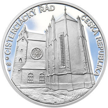 KLÁŠTER ZLATÁ KORUNA – návrhy mince 200,-Kč - sada tří Ag medailí 34mm Proof v etui - 5