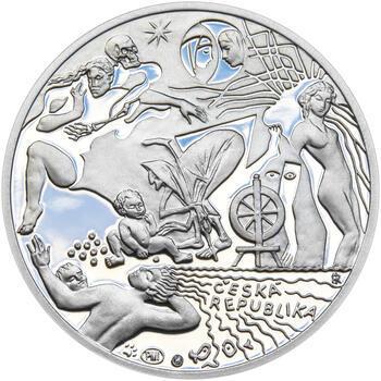 KAREL JAROMÍR ERBEN – návrhy mince 500 Kč - sada tří Ag medailí 34 mm Proof v etui - 5