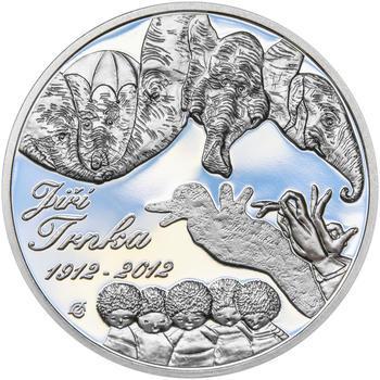 JIŘÍ TRNKA – návrhy mince 500 Kč - sada tří Ag medailí 34 mm Proof v etui - 5