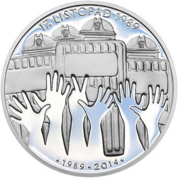 17. LISTOPAD 1989 – návrhy mince 200 Kč - sada tří Ag medailí 34 mm Proof v etui - 6