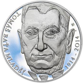TOMÁŠ BAŤA ml. – návrhy mince 200,-Kč - sada tří Ag medailí 34mm Proof v etui - 6