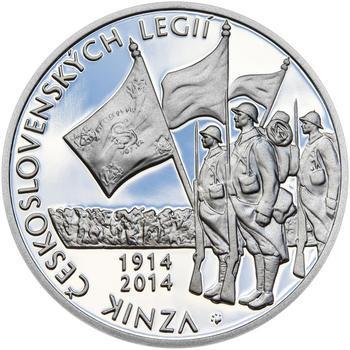 ZAL. ČESKOSLOVENSKÝCH LEGIÍ – návrhy mince 200,-Kč - sada tří Ag medailí 34mm Proof v etui - 6