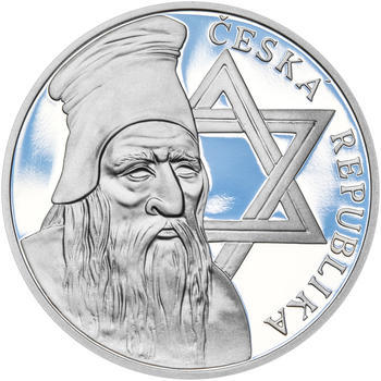 RABÍ JEHUDA LÖW – návrhy mince 200 Kč - sada I. tří Ag medailí 34 mm Proof v etui - 6