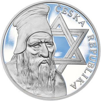 RABÍ JEHUDA LÖW – návrhy mince 200,-Kč - sada I. tří Ag medailí 34mm Proof v etui - 6