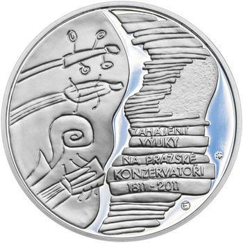 PRAŽSKÁ KONZERVATOŘ – návrhy mince 200,-Kč - sada tří Ag medailí 34mm Proof v etui - 6