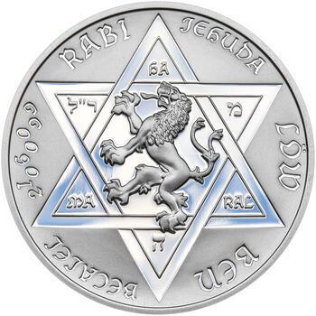 RABÍ JEHUDA LÖW – návrhy mince 200 Kč - sada II. tří Ag medailí 34 mm Proof v etui - 6