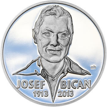JOSEF BICAN – návrhy mince 200 Kč - sada tří Ag medailí 34 mm Proof v etui - 6