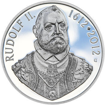 RUDOLF II. – návrhy mince 200 Kč - sada tří Ag medailí 34 mm Proof v etui - 6