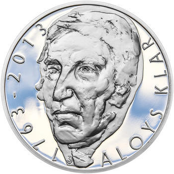 ALOYS KLAR – návrhy mince 200,-Kč - sada tří Ag medailí 34mm Proof v etui - 6