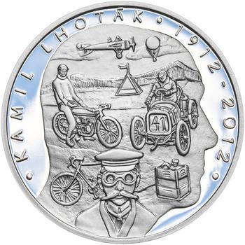 KAMIL LHOTÁK – návrhy mince 200 Kč - sada tří Ag medailí 34 mm Proof v etui - 6