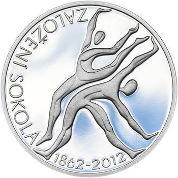 ZALOŽENÍ SOKOLA – návrhy mince 200,-Kč - sada tří Ag medailí 34mm Proof v etui - 6